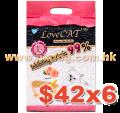 LoveCat 條狀豆腐砂蜜桃味 6L x6包