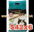 LoveCat 條狀豆腐砂綠茶味 6L x6包