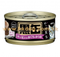Aixia 黑缶 (BCM12)吞拿,鰹魚,三文魚 80g