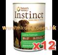 NV Instinct 無穀物羊肉狗罐 13.2oz x12
