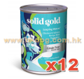 Solid Gold leaping water 無穀物三文狗罐 13.2oz x12罐