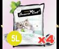 FUSSIE CAT 凝結砂 5公升 原味 x4
