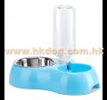 不鏽鋼食碗連飲水器  細碼(不設選色)