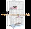 貓籠 IRIS PEC-903 三層鐵枝(~6尺高,不設選色)