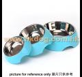 塑膠不鏽鋼圓碗  中碼(不設選色)