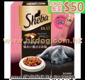 Sheba 貓潔齒夾心脆餅 240g 吞拿+雞