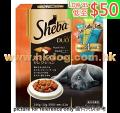Sheba 貓潔齒夾心脆餅 240g 雞+海鮮