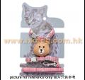 熊仔頭貓狗用胸帶+拖帶套裝(胸圍24~38cm,多色)