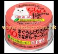 CIAO 貓罐頭 吞拿+雞+芝士 75g <A22>