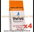 Thrive 無穀物雞+火雞貓糧 6kg(1.5kg*4)
