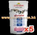 Almo Nature Alternative 貓乾糧 750g x5包(雞肉,三文魚可混款)