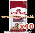 Royal Canin 中型老犬10+濕包 140G x10包
