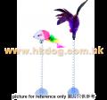 吸盤彈弓貓玩具(羽毛/老鼠,不設選款)