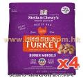 Stella & Chewy's  急凍生肉貓糧 火雞肉粒配方 3LB x4包